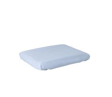 Ferm Living Cambio de funda de colchón de algodón azul luz Silencio