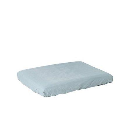 Ferm Living Wickeltisch-Matratzenbezug Hush dusty blau Baumwolle