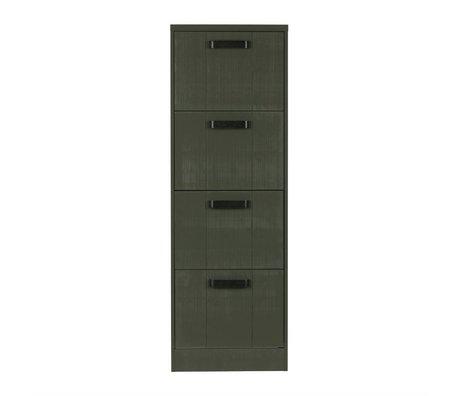 BePureHome Classeur Dépôt forêt Cabinet 148x50x44cm vert sapin