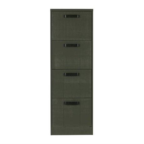 BePureHome Cabinet File Schedario verde pineta 148x50x44cm