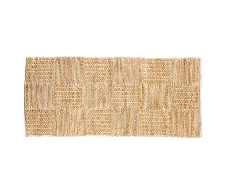 BePureHome Alfombra escenas naturales de yute 70x140cm marrón