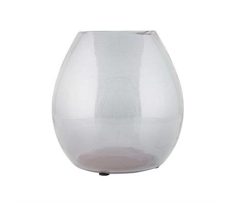 BePureHome Vase en verre transparent simple gris moyen 20x20x20cm