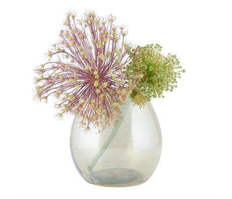 BePureHome Vase Enkel medium messing antik guld gennemsigtigt glas 20x20x20cm