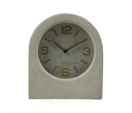 BePureHome Uhr Timeless grau beton 24x20,8x10cm