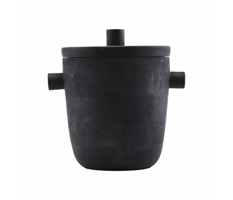 Housedoctor Wine cooler ice bucket black mango wood Ã~20x22cm