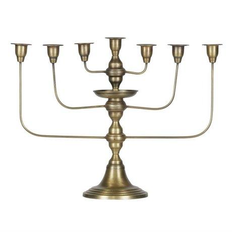 BePureHome Kerzenleuchter Totem antik Messing goldfarben Metall 46x58x18cm