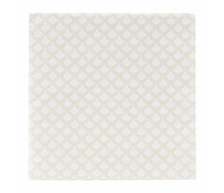 Housedoctor Napkins golden print paper 40x40cm
