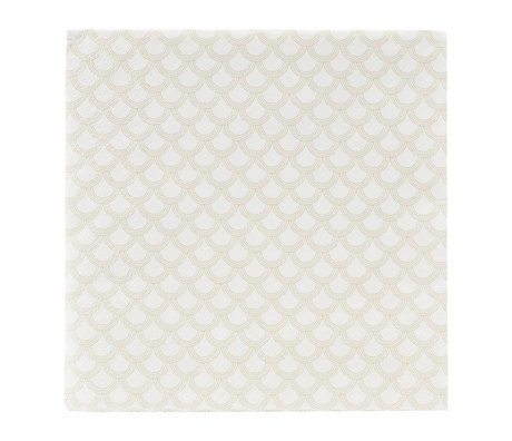 Housedoctor Tovaglioli di stampa di carta dorata 40x40cm