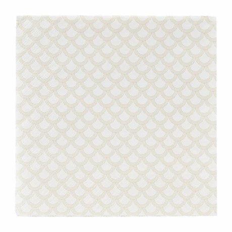 Housedoctor Servietter gyldne print papir 40x40cm