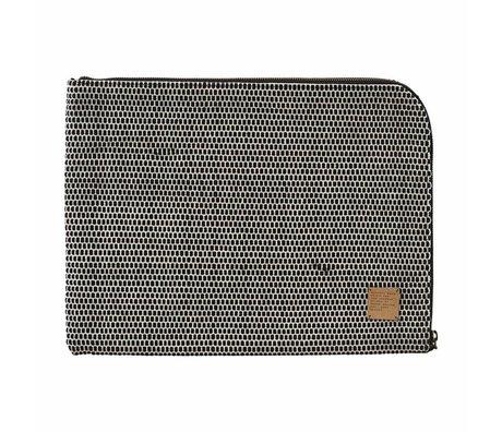 """Housedoctor iPad-Hülle Saf 15"""" schwarz weiß Baumwolle 39x29cm"""