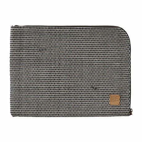 """Housedoctor caso del iPad Saf 15 """"de algodón negro 39x29cm"""