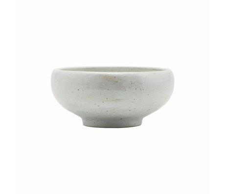 Housedoctor Fait bol en porcelaine blanche ivoire Ø19x9cm