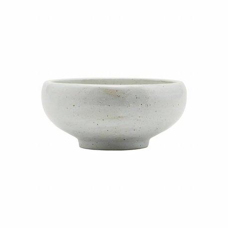 Housedoctor tazón hecho de marfil Ø19x9cm porcelana blanca