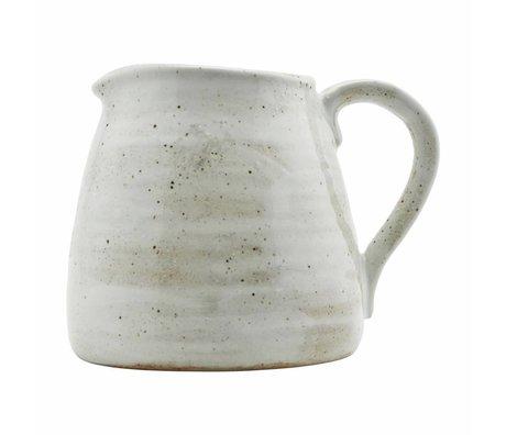 Housedoctor Jarra de marfil por 15 cm de porcelana blanca