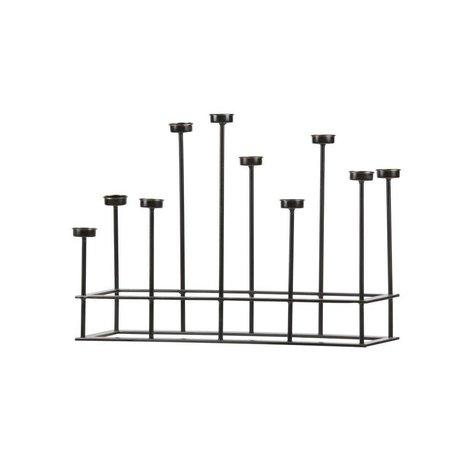 BePureHome Candelabro de metal negro rodean 40x58,5x17,5cm