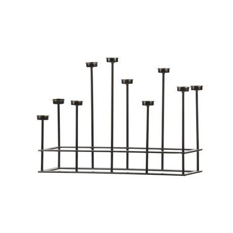 BePureHome Candlestick Surround black metal 40x58,5x17,5cm