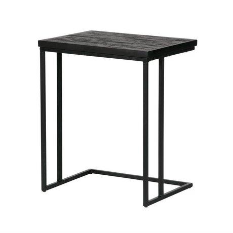 BePureHome tavolo Condivisione di ferro di cavallo di legno 55x45x35cm nero