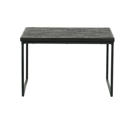 BePureHome Side table sharing black wood 38x60x60cm