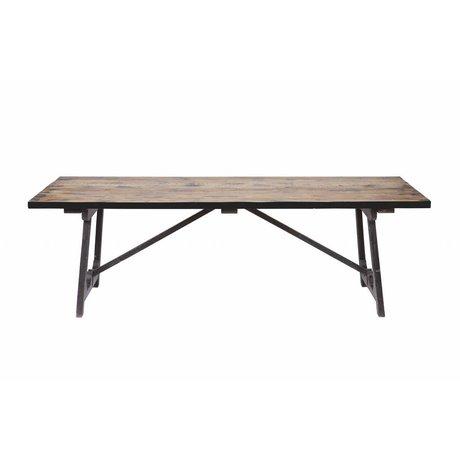 BePureHome Tavolo da pranzo Craft marrone legno nero 76x190x90cm