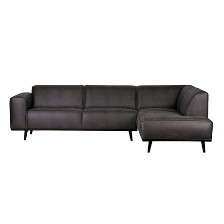 BePureHome Sofa Statement corner sofa right gray eco-leather 77x274x210cm