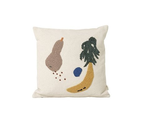 Ferm Living Cuscino crema di banana tela di cotone 40x40cm