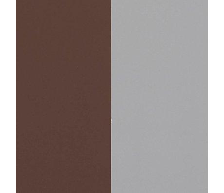 Ferm Living Wallpaper Thick Lines burgundy gray 53x1000cm