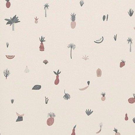 Ferm Living Tapete Fruiticana rosa 53x1000cm