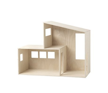 Ferm Living Dollhouse Funkis small wood 47.7x36.4x20cm