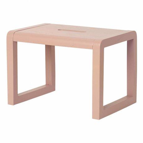Ferm Living Poco silla de madera de color rosa Arquitecto 33x23x23cm