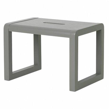 Ferm Living Poco silla de madera de color gris Arquitecto 33x23x23cm