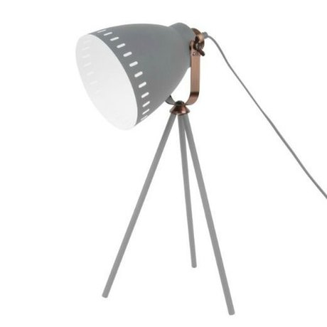 Leitmotiv Table lamp Mingle gray metal Ø16.5x54x31cm