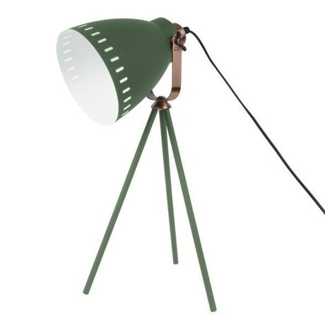 Leitmotiv Lampe de table Ø16.5x54x31cm métal vert Mingle