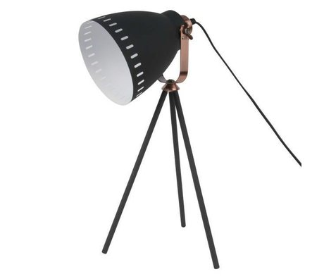 Leitmotiv Table lamp Mingle black metal Ø16.5x54x31cm