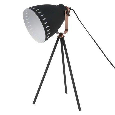Leitmotiv Lampada da tavolo in metallo nero Mingle Ø16.5x54x31cm