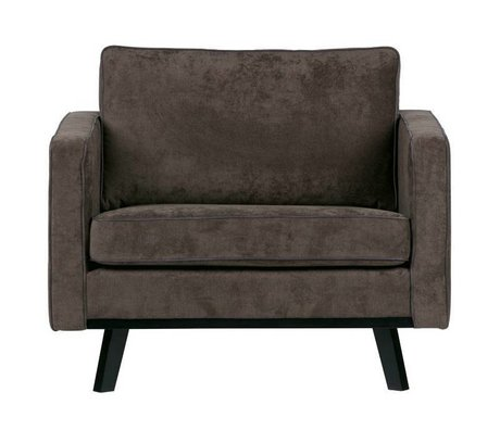 BePureHome Armchair Rebel brushed brown polyester wood 85x105x86cm