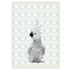 pt, Tea towel Kakadu black white cotton 50x70cm