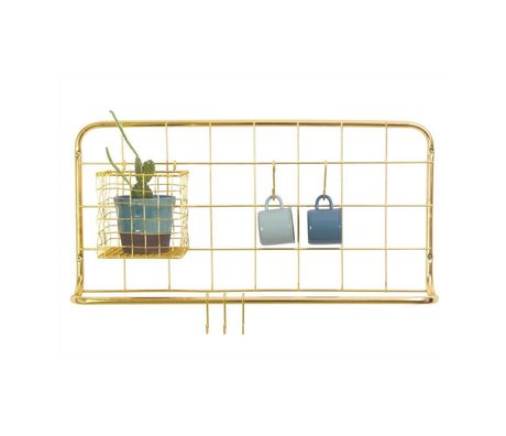 pt, Kitchen shelf golden iron 60x30x5cm