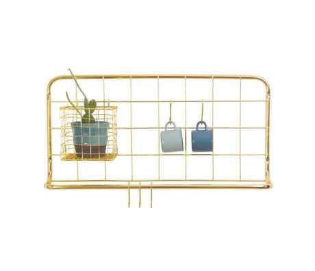 pt, Mensola da cucina in ferro dorato 60x30x5cm
