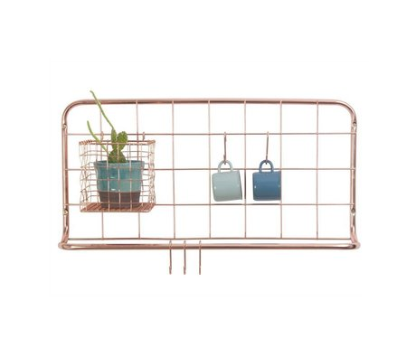 pt, Estante de cocina hierro color cobre 60x30x5cm