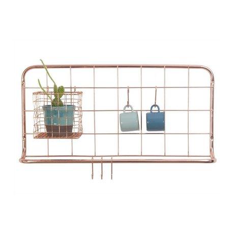 pt, Küchenregal kupferfarben Eisen 60x30x5cm
