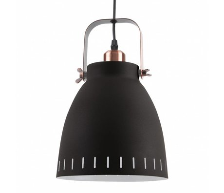 Leitmotiv Lampe à suspension Pendentif Mingle métal noir Ø26,5x19x26,5