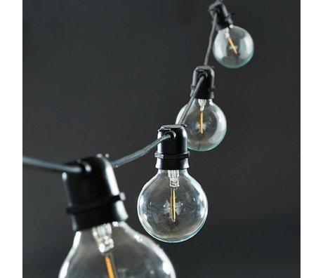 Housedoctor Housedoctor luces de hadas negro 10 lámparas de goma 10,2