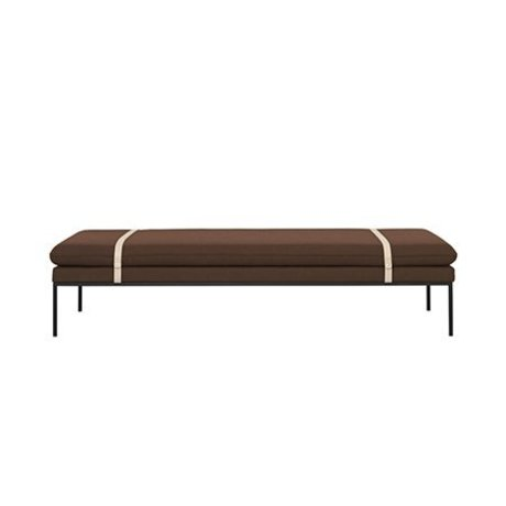 Ferm Living Daybed Turn rostfarben Wolle Nylon 190x80x42,5cm