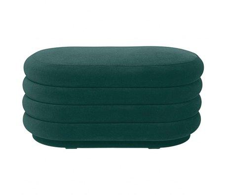 Ferm Living Puff grün Samt 90x40x42cm