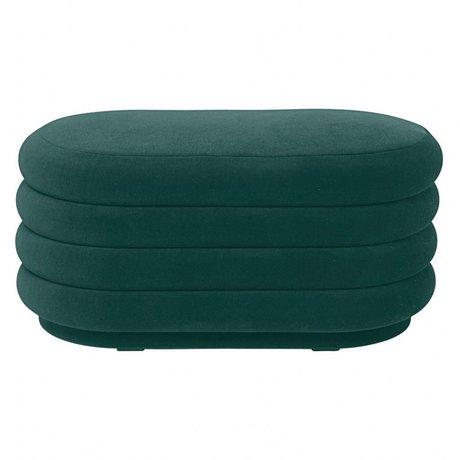 Ferm Living Puff green velvet 90x40x42cm