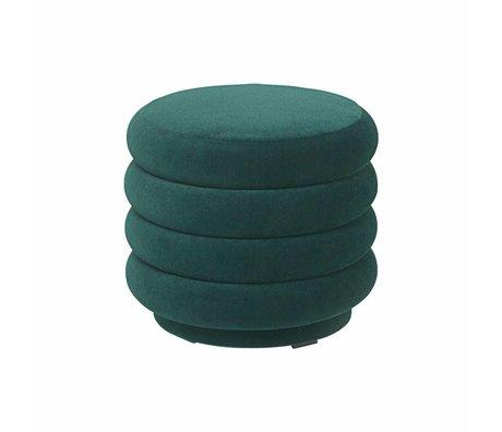 Ferm Living Puff green velvet Ø42x40cm