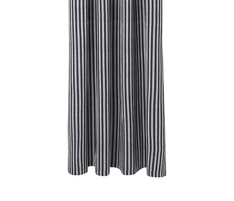 Ferm Living Bruseforhæng Chambray grå stribet bomuld 160x205cm