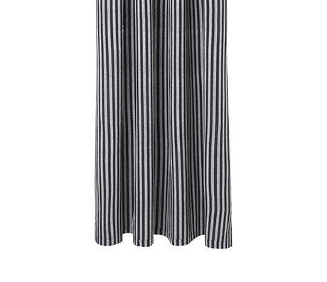Ferm Living Rideau de douche Chambray gris rayé coton 160x205cm