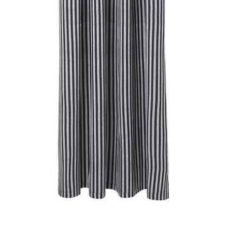 Ferm Living Cortina de ducha Chambray gris a rayas de algodón 160x205cm