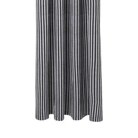 Ferm Living Duschvorhang Chambray grau gestreift Baumwolle 160x205cm
